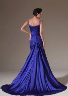 Blå kjole med tog - bakfra