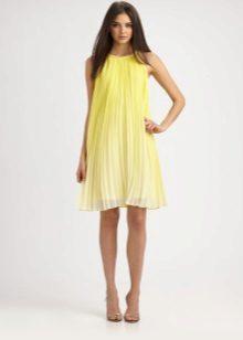 Gele jurk trapeze