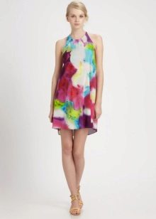 Summer dress A-line multi-colored