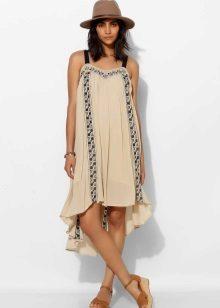 Midi A-lijn jurk