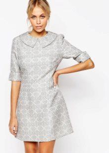 Warm grijze jurk A-lijn
