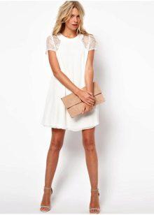Vestido branco A-line