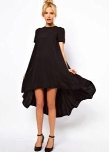 Trapézio vestido preto