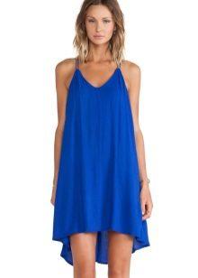 Blauwe jurk trapeze