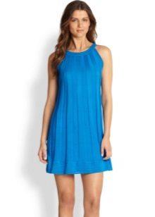 Trapézio vestido azul