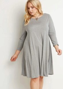 Gray dress trapeze for full