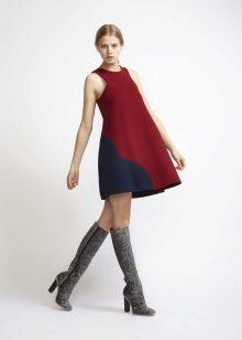 Trapeze jurk laarzen