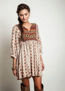 Dress tunic with boots
