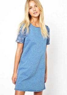 השמלה טוניקה כחולה