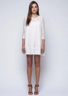 White dress-tunic