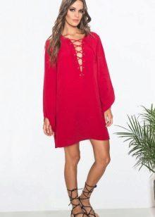Red dress-tunic