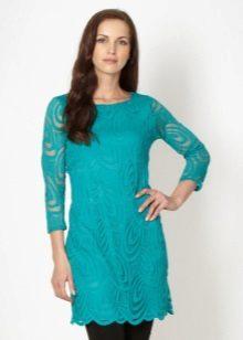 טורקיז שמלת טוניקה