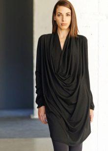 Long black dress tunic