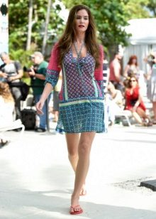 Dress-tunic with summer print