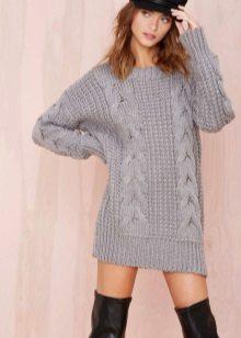 Wool tunic dress