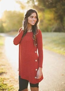 Tunic with a scarf