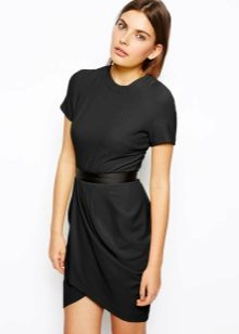 Beautiful black office tulip dress