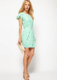 Short green tulip dress