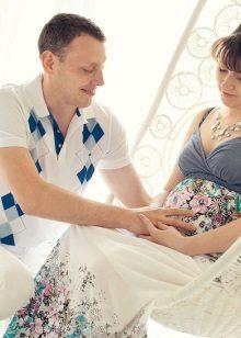 Рокля без ръкави за бременни