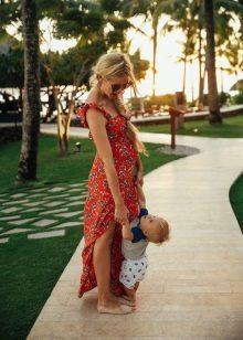 Лятна рокля за бременни жени