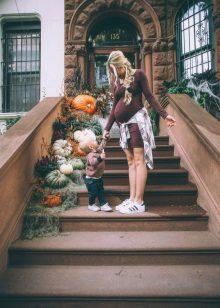 Рокля за майчинство за есента