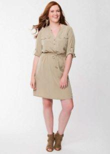 Kjole skjorte til kvinder med figur type Apple