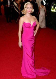 Vestidos para a figura do tipo de maçã - Reese Witherspoon