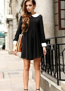 Dress with a high waist for thin