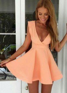 Peach kjole baby dollar høyt midje