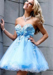 Elegant dress baby dollar high-waisted