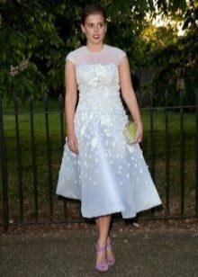 Flared elegant dress with a high waist