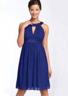 High-waisted dress with a neckline