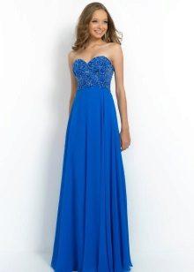 Blå kjole med høy midje