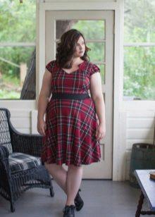 Kleed je in een kooi met een zwarte gok op de riem voor zwaarlijvige vrouwen