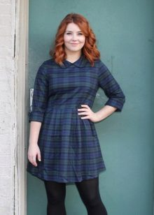 Jurk Scottish Plaid voor meisjes met overgewicht