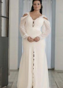 Bell vestit llarg i blanc complet