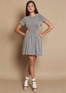 שמלת כסף קצרה קצרה
