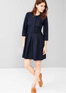 שמלת חולצה שחורה