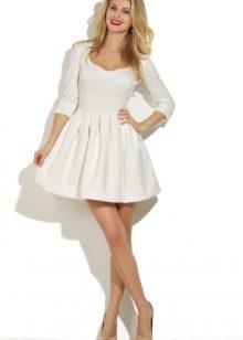 Flared kjole med plisset skjørt