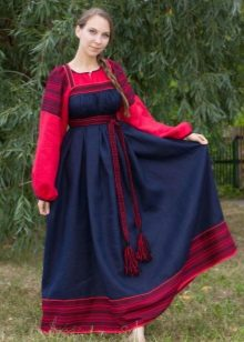 Blue Russian dress