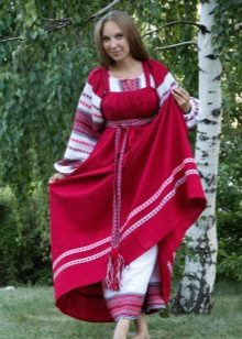 Red Russian sundress