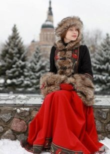 Dusgreyka to the Russian sundress for the winter