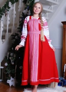 Russian dress in combination with a shirt