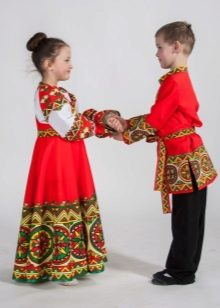 Russian folk costume for children