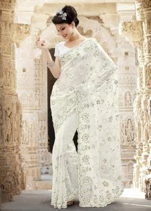 Stunningly beautiful white sari