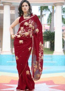 Vestido borgonha Sari
