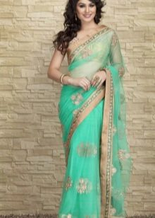 Green indian saree