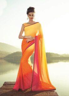 Sari indiano laranja