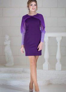 Violetti neulottu mekko lyhyt