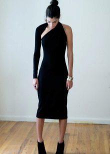 Neulottu musta mekko
